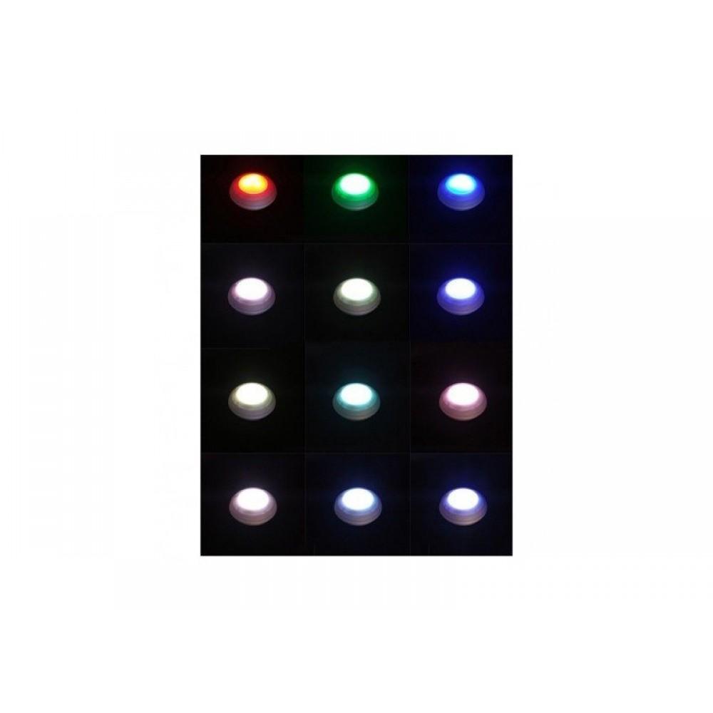 Σετ Ασύρματα Σποτ Φωτάκια 5 Τεμαχίων Led Και Τηλεχειριστήριο Με Εναλλαγή Χρωμάτων - C1098