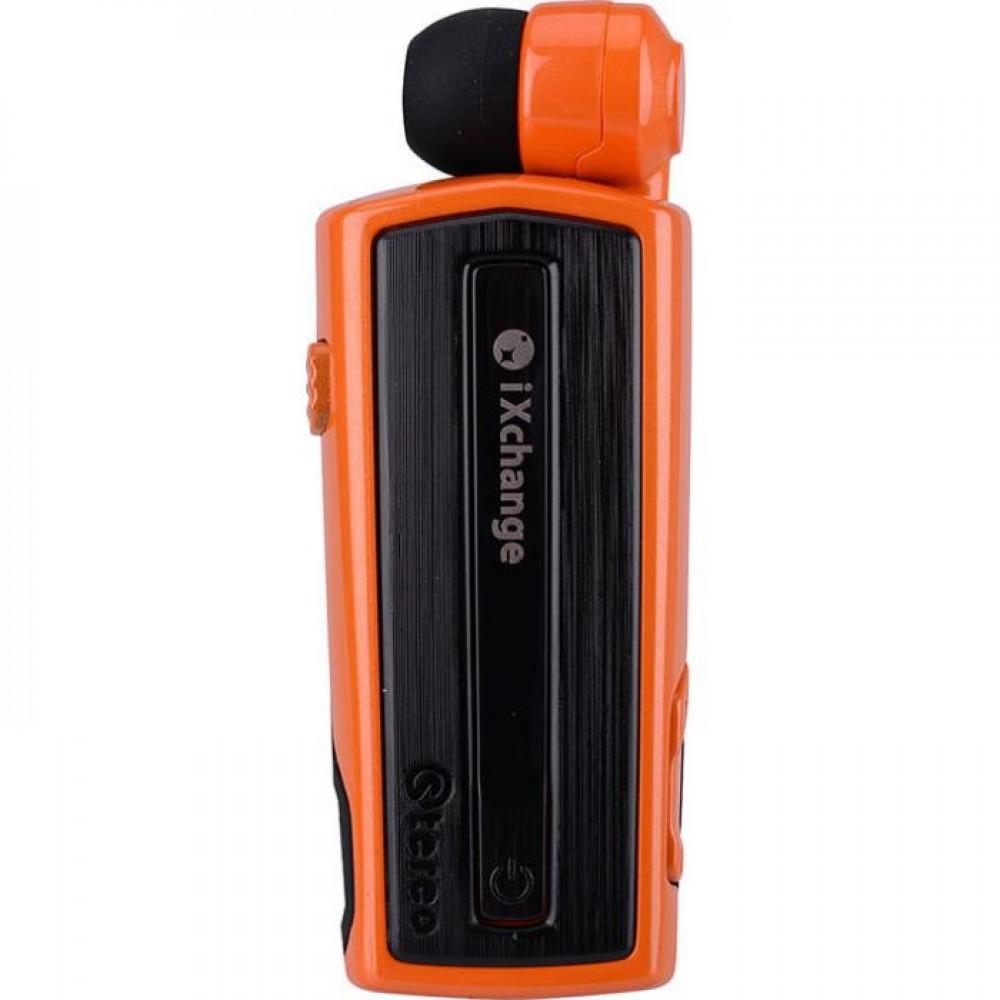 Retractable BT Headset w vibrator UA28 Orange iXchange