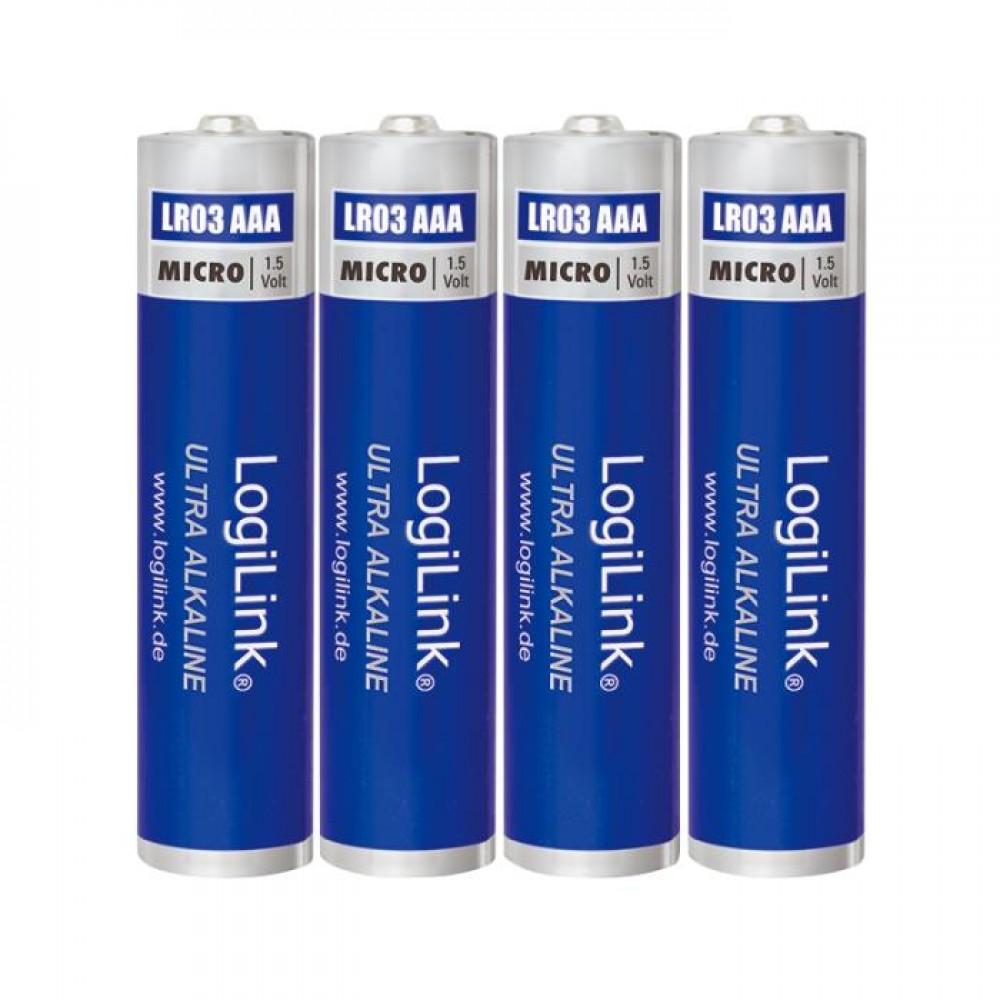 Battery AAA Alkaline Logilink LR03B4 4pcs