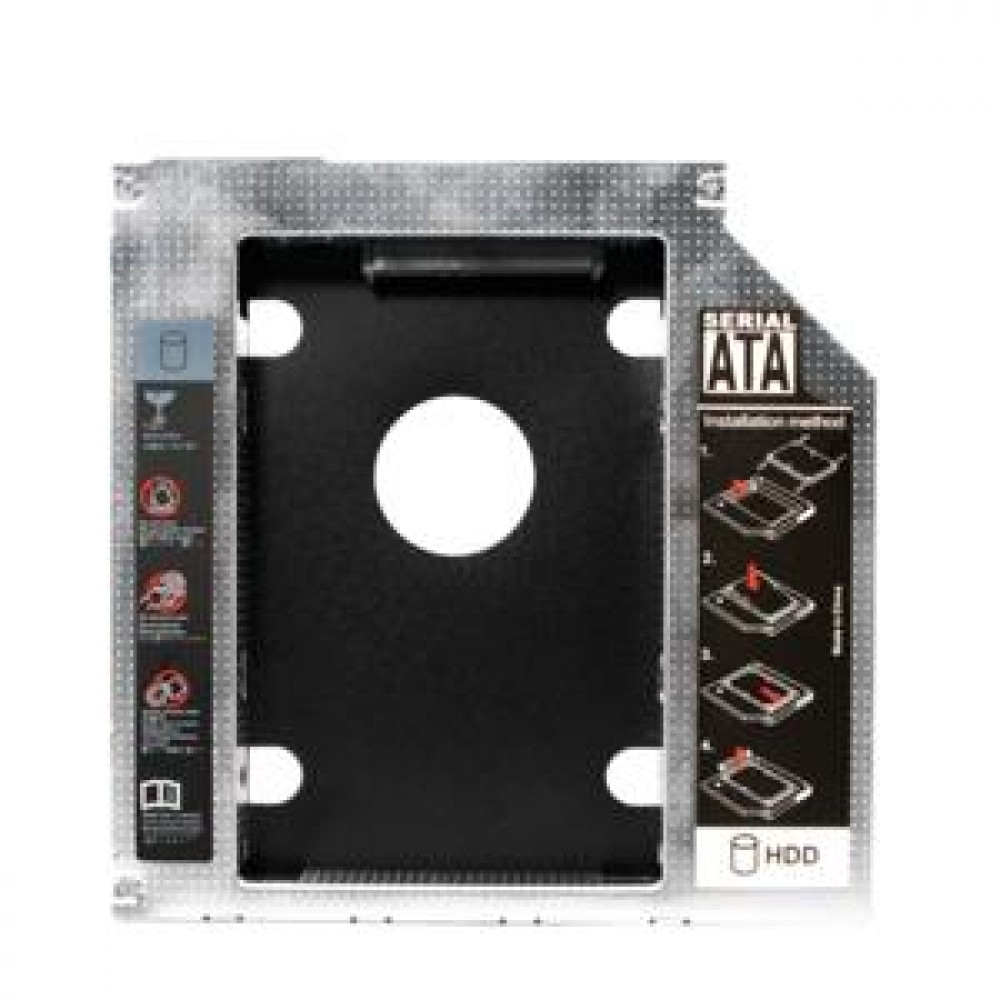 Drive Slot 2nd SATA HDD Caddy for a 9.5 mm high CD/DVD/Blue-ray LogiLink AD0017